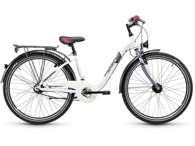 s'cool chiX 26 7-S Juniorcykel Barn alloy vit